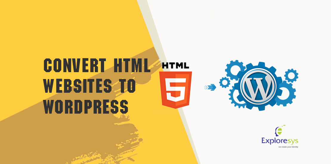 Convert HTML websites to WordPress with website design company India